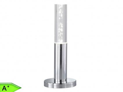 LED-Tischleuchte, Chrom / Acrylglas mit Bläschen, Wofi-Leuchten