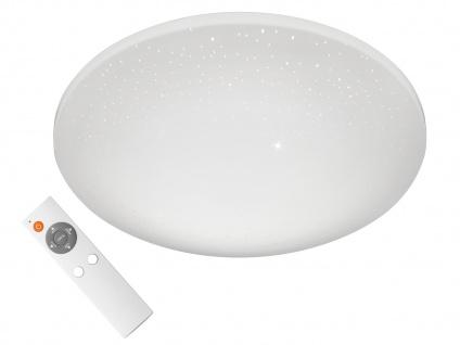 Dimmbare LED Deckenlampe rund Ø 38cm mit Farbwechsel Fernbedienung Sternenhimmel