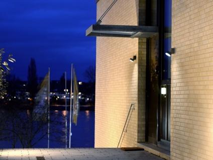 Runde LED Außenwandleuchte mit 90° schwenkbarem Kopf ALU Anthrazit 9, 4cm? medium - Vorschau 5