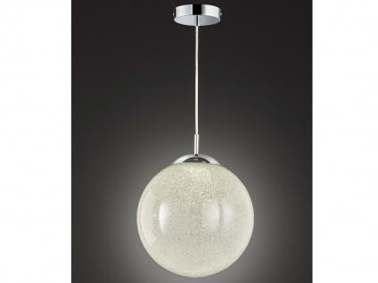 Ausgefallene Pendelleuchte Kugel Glas Kristalloptik Ø 30cm E27 - Esstischlampen - Vorschau 5
