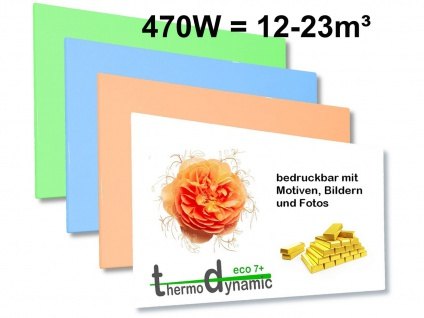 470W Infrarotheizung, Elektroheizung bedruckbar, Bildheizung, Vitalheizung