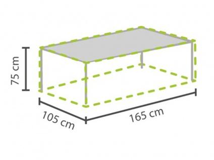 Gartenmöbel Schutzhülle / Abdeckung für Gartentisch max. 160cm, Plane wetterfest