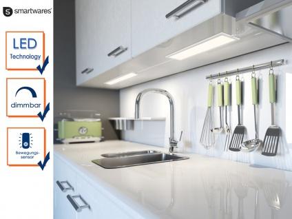 2x Dimmbare LED-Lichtleiste mit Bewegungssensor L. 46cm Einbau in Schränke Möbel