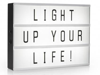 Light-Box Leuchtkasten A4 mit 85 Buchstaben + Symbolen, batteriebetrieben - Vorschau 2