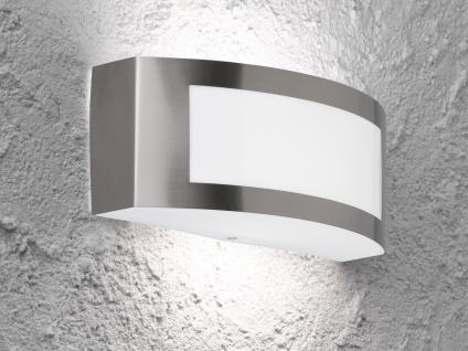 LED Wandleuchte / Außenleuchte Edelstahl Breite 25cm, Fassadenbeleuchtung Haus
