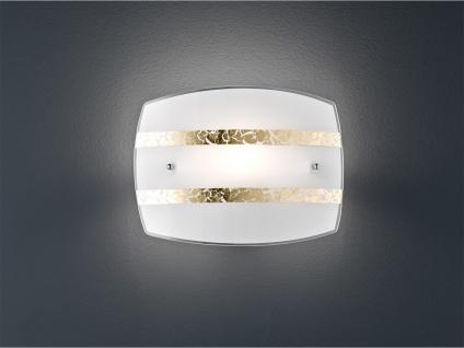 Moderne LED Wandleuchte 30x22cm aus weißem Dekorglas mit Streifen, Flurleuchte