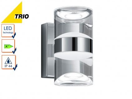 LED Badleuchte Wanlampe Serie 2827, Chrom, Acryl klar, IP44, Höhe 16, 5 cm, Trio
