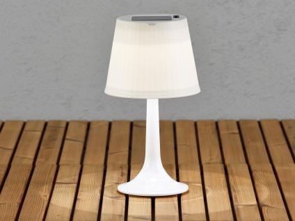 Solar High Power LED Tischlampe Tischleuchte ASSISI weiß Höhe 36cm Gartenlampe