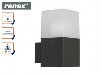 LED-Außenwandleuchte Aluminium/Kunststoff 7 Watt IP44 Fassadenbeleuchtung Garten