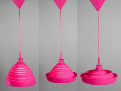Hängeleuchte SILLY, Silicon pink, verwandelbar, Ø 30cm, Ranex