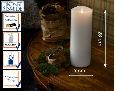 LED Duftkerze Echtwachs 6h Timer mit Lavendel Duftpad H. 23cm Stimmungslicht