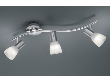 Schwenkbarer 3 flammiger LED Deckenstrahler in Nickel matt für Innen Wohnzimmer