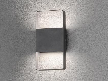 Flache eckige LED Außenleuchte UP & Down Anthrazit 12W Fassadenleuchten Hauswand