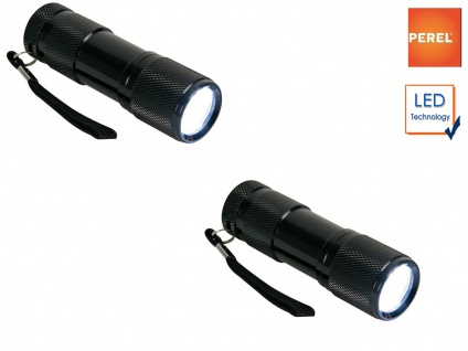 2x LED Taschenlampen extra hell, wetterfest stoßfest, Taschen Lampen mit Hülle