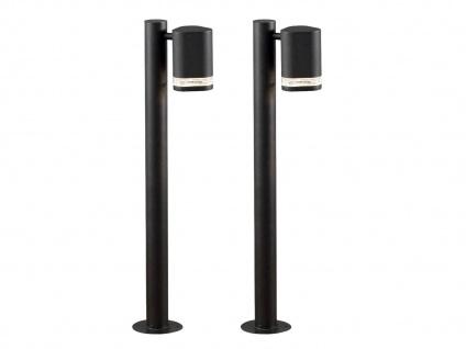 2er-Set Aluminium Wegeleuchte MODENA schwarz, GU10, Höhe 70 cm, IP44