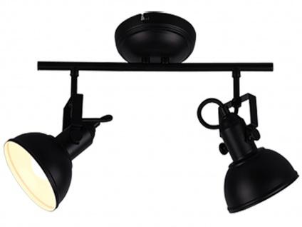 LED Deckenspot im Retro Look aus Metall in Schwarz dreh+ schwenkbar Wandstrahler - Vorschau 2