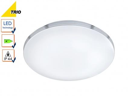 LED Deckenleuchte Badezimmerlampe APART Chrom Acryl weiß Ø 35 cm