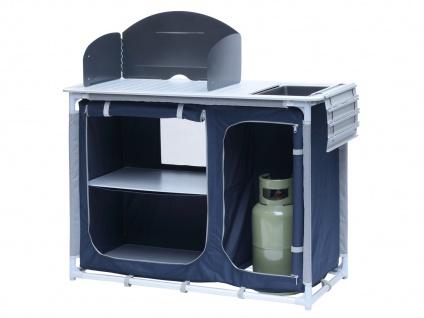 Campingküche mit Spüle & Windschutz 102x48 cm Outdoor Küchenschrank Picknick