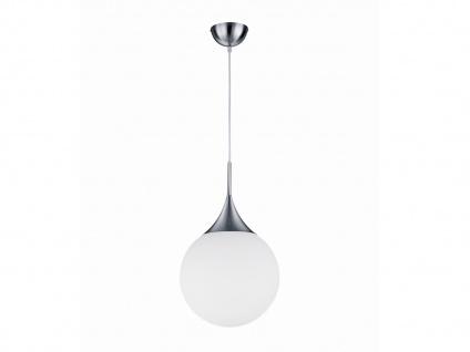 Glaskugel Hängeleuchte MIDAS für Innen aus mattem Metall & weißem Glas, Ø 30 cm