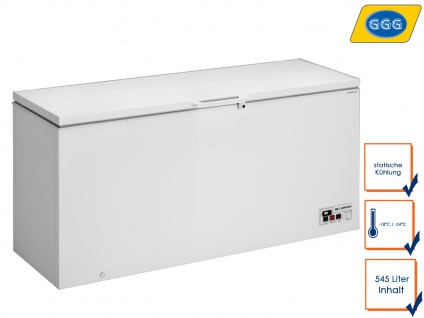 Gastro Gefriertruhe 545 Liter, -18/ -24°C, Tiefkühltruhe Kühltruhe Profi