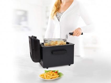 Kleine PRINCESS 2L Edelstahl Kaltzonen Öl Fritteuse Pommes, Schnitzel frittieren