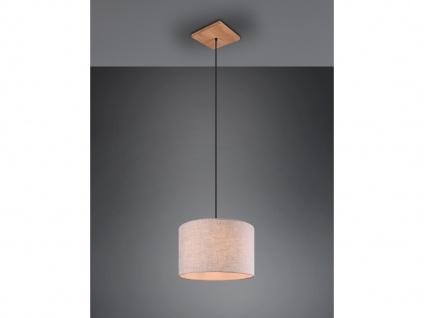 Skandinavische LED Stoff Pendelleuchte Wohnzimmerlampe hängend über Couchtisch