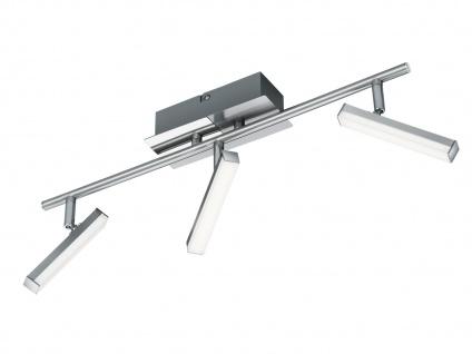 Klassischer LED Deckenstrahler Nickel matt 3 Spots schwenkbar - Wohnraumleuchten