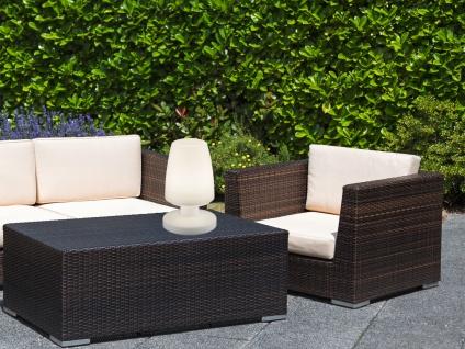 OUTDOOR kalbellose Garten LED Tischleuchte 20cm für Draußen Akku USB Anschluß