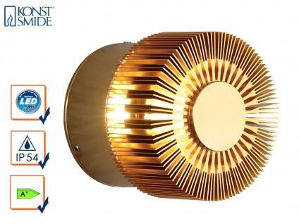 Wandleuchte MONZA effektvolle Beleuchtung, bronzefarbenes massives Aluminium