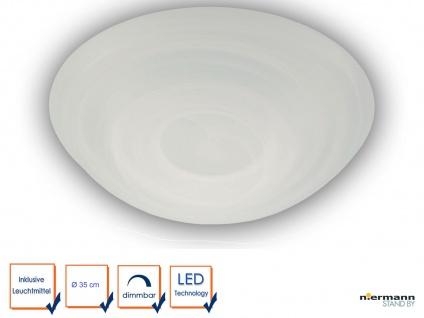 LED Glasleuchte ALABASTER Design Ø35cm Deckenlampe rund Glas Küchenlicht dimmbar