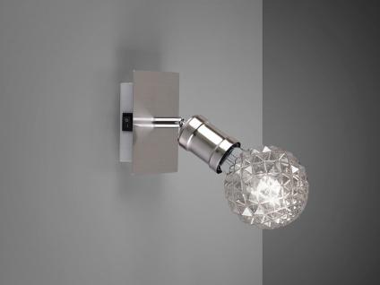 Einflammiger Wandstrahler für den Innenbereich mit LED & Spot schwenkbar, modern