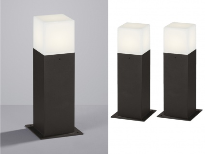 LED Sockelleuchte in Anthrazit 30cm - 2er Set Terrassenbeleuchtung Wegeleuchten - Vorschau 1