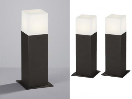 LED Sockelleuchte in Anthrazit 30cm - 2er Set Terrassenbeleuchtung Wegeleuchten