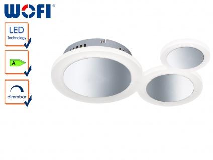 LED Deckenleuchte PARC, dimmbar, Chrom & Acryl, Deckenlampen Wohnzimmerlampen