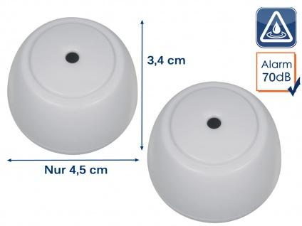 2er Set Mini Wassermelder Wasserwarner Wasserwächter 70dB - für Küche Bad Keller