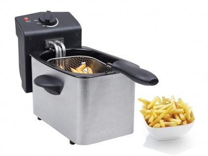 MINI Kaltzonenfritteuse Single Öl Friteuse Schnitzel & Champignons frittieren 2L