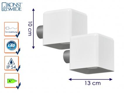 2er-Set LED Außenwandleuchte AMALFI, weiß, Wandleuchte Wandstrahler Wandspot