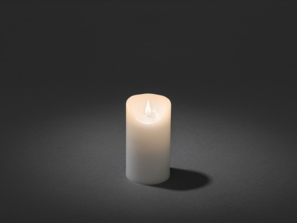 LED Echtwachskerze 3D Flamme & Timer Batteriebetrieb H. 13, 5 cm Stimmungslicht - Vorschau 2