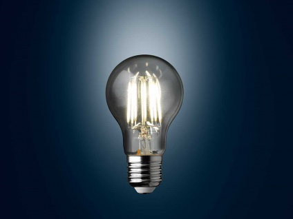 Filament LED dimmbar E27 Leuchtmittel Glühlampe Klares Glas 7 Watt 806lm 2700K