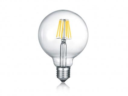 E27 LED Leuchtmittel mit Switch Dimmer, 6W 810lm in Warmweiß, transparentes Glas