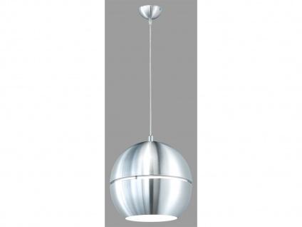 Puristische Pendelleuchte, 1 x E27, Ø 30cm, Aluminium gebürstet