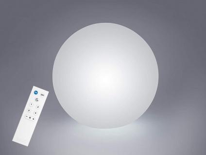 LED Kugel Tischleuchte Glas DAMIAN smarte Lichtsteuerung WIZ, Ø30cm in Weiß