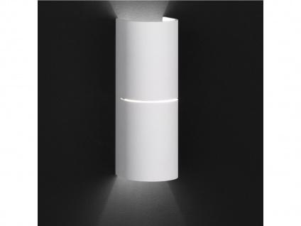 Moderne 2-flg. Wandleuchte BRAEZ, weiß, Up & Down Wofi-Leuchten