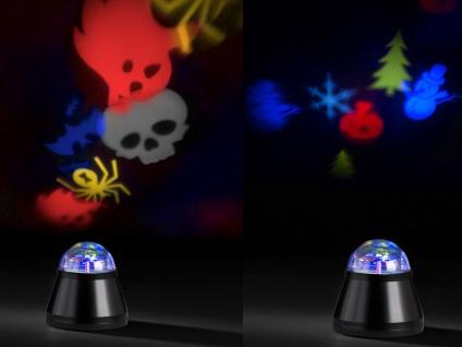 LED Tischleuchte/Nachtlicht 2 Stück Projektor Halloween & Winter Bunt mit Motor