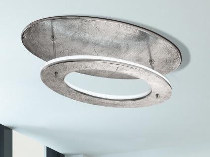 Große LED Design Deckenleuchte oval mit Fernbedienung für Dimmen & Farbwechsel