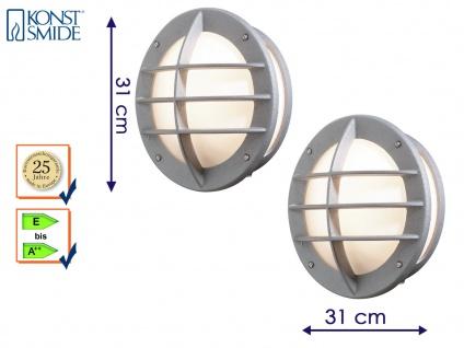 2er Set Außenwandleuchte Wandlampe silber Beleuchtung Haus Terrasse, Konstsmide