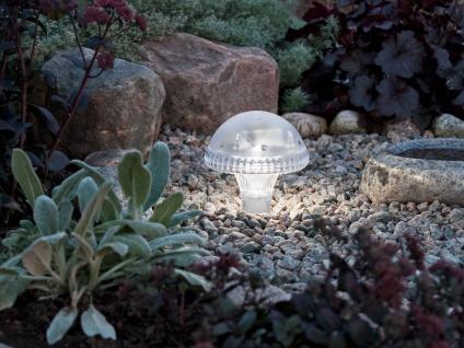 LED Solarleuchte / Gartenleuchte ASSISI, IP44, weiß, Höhe 27, 5 cm