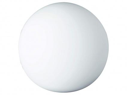 Kugel LED Tischleuchte Bodenlampe Deko Glaskugel innen Weiß Ø20cm Lichtobjekte - Vorschau 2