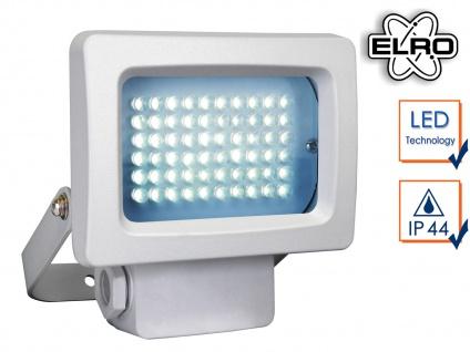 Mini Außenstrahler / Flutlichtstrahler weiß 3, 6W LED, Außenlampe Scheinwerfer