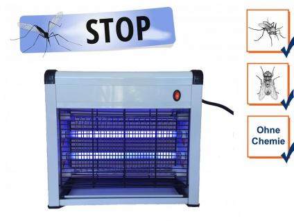 Elektrischer Insektenvernichter mit UV, Mückenschutz Fliegenfalle Schnaken Licht